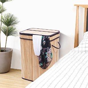BEWISHOME竹子洗衣筐