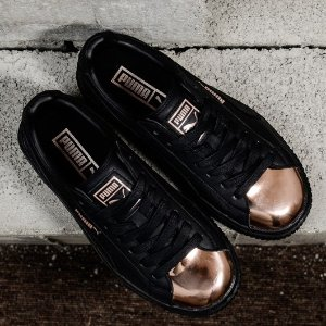大码福利!到手¥240PUMA BASKET PLATFORM METALLIC休闲鞋