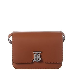 BurberryMedium TB Leather Shoulder Bag马鞍包