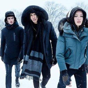 低至7折 反季囤大毛领Mackage官网 男女士冬季棉服特卖