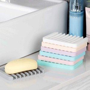 折后€7.49收4个 造型简约美观BOYATONG 硅胶不积水香皂盒热促 还能放洗碗海绵