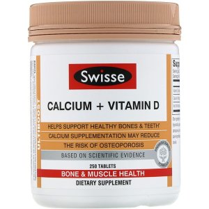 SwisseAdd to Shopping cart for 15% OFF Ultiboost, Calcium + Vitamin D, 250 Tablets