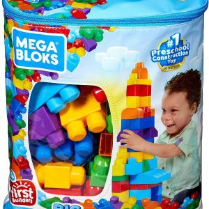 $14.97收80件积木包Mega Bloks 儿童大块积木 帮助孩子认知图形颜色 益智玩具