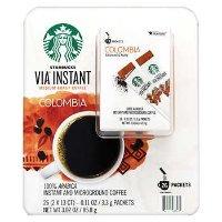 Starbucks VIA速溶哥伦比亚中度烘焙咖啡 26袋装