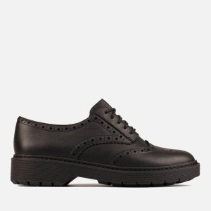 Clarks女士黑色小皮鞋