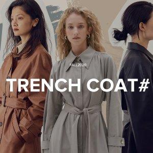 线上折扣+额外9折W Concept 秋冬风衣外套专场 一秒气质up 超多款式颜色