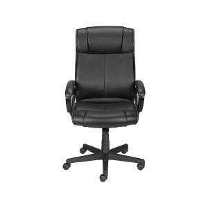 Staples Turcotte Luxura Faux Leather Computer and Desk Chair, Black
