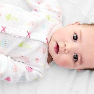 $6.97+礼卡  收包脚款超实用限今天:Carter's 宝宝长袖连体衣、连体睡衣、睡袋闪购