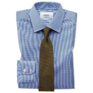 Charles Tyrwhitt4 for $78.2Extra slim fit non-iron puppytooth royal blue shirt