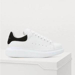 无门槛8.5折 £306收经典黑尾小白鞋Alexander McQueen 全场惊现好折扣 黑尾罕见补货