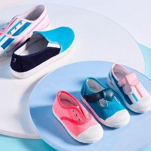 新款上架 把糖果穿在脚上Jacadi官网 2019春夏儿童帆布鞋上新