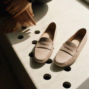 低至5折 收封面款TOD's 经典鞋履闪购,经典豆豆鞋$349,舒适有型通勤必备