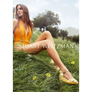 Stuart Weitzman常规半码有货草编坡跟凉鞋