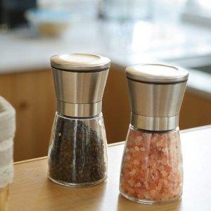 现价$13.18(原价$25.35)TGY 调料研磨瓶2件套 喜马拉雅玫瑰盐 佳肴必备