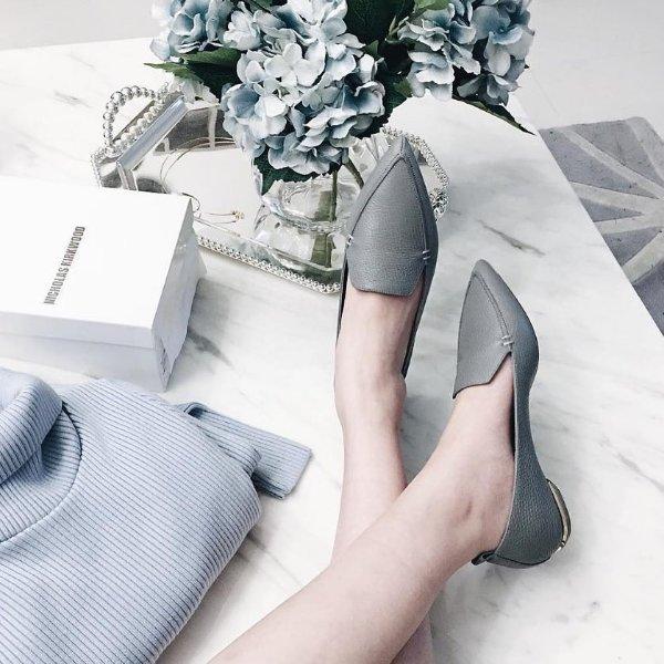 Beya 尖头乐福鞋