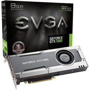 $479 免税包邮EVGA GeForce GTX1080 8GB GDDR5X 游戏显卡