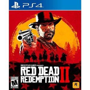 $34.99 (原价$59.99)《荒野大镖客:救赎2》PS4 / Xbox One 实体版