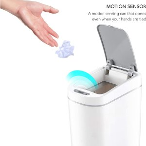 $32.88(原价$39.9)NINESTARS 运动传感垃圾桶 1.8加仑 智能开盖 密封无味