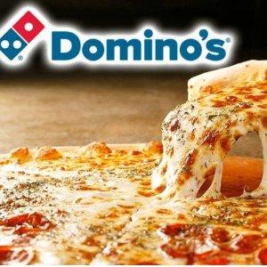 7.5折 今晚吃披萨Domino's Pizza 中号/大号披萨限时优惠活动