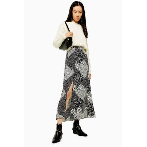 TopshopTALL Spot Midi Skirt