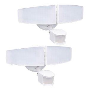 Honeywell 3000流明高亮度 LED双灯头安全感应灯 2个
