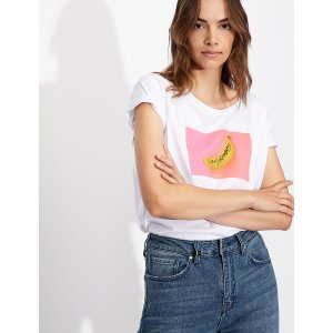 Armani ExchangeSTREET ART HIROSHI BOYFRIEND FIT TEE, Graphic T Shirt for Women | A|X Online Store