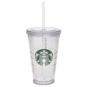 Starbucks16 Ounce Clear Tumbler with Straw