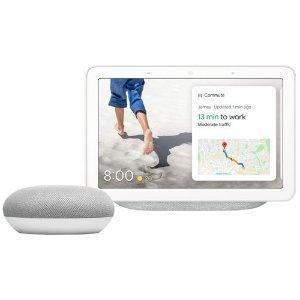 灰色 Nest hub+google mini