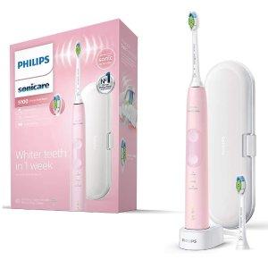 低至4.4折 现价£79 原价£179史低价:Philips 5100型电动牙刷 健康护龈声波震动