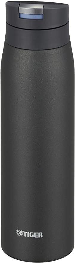 TIGER虎牌 600ml SAHARA系列 不锈钢保温杯 一键式 轻量 MCX-A602KE 黑色