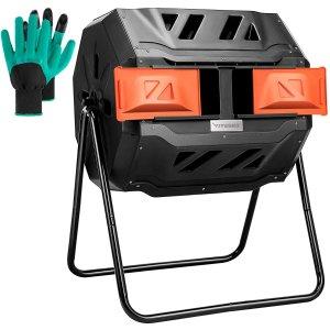 VIVOSUN Outdoor Tumbling Composter – 43 Gal