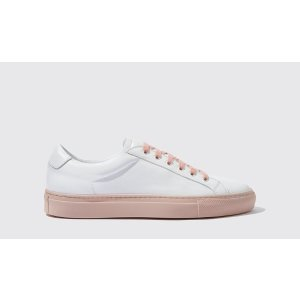 Women's White Sneakers with Pink Sole- Silvia | Scarosso