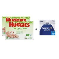 $25.08Huggies Natural Care Unscented Baby Wipes, 16 Flip Top Packs (896 Total Wipes) w/ $5 Gift Card @ Walmart