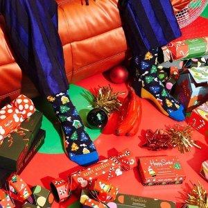 低至6折 可爱太阳蛋袜子£8Happy Socks 冬季热促 超有创意的圣诞礼物