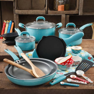 Black Friday Sale Live: The Pioneer Woman Vintage Speckle 24 Piece Cookware Combo Set