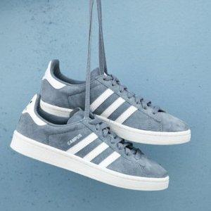 4.2折起+额外7.5折+免邮最后一天:Adidas Originals Campus 复古经典鞋款特卖,超人气选手
