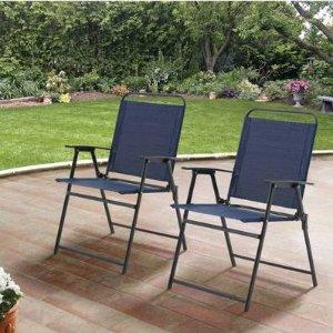 $36.97Mainstays 户外折叠椅 2张 多色可选
