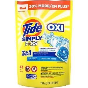 Tide3合1补充装去渍洗衣球 43个