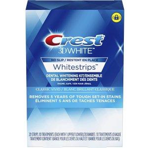 $23.72(原价$26.99)Crest 佳洁士 3D美白牙贴10对 肉眼可见牙齿明显变白 口碑好物