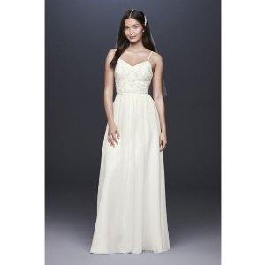 cb7905365883 Davids BridalBeaded Ballerina Bodice Soft Chiffon Sheath Dress   David's  Bridal