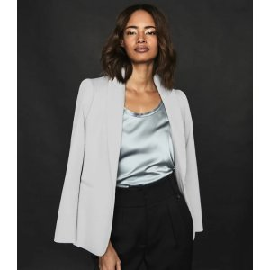 ReissNeya Silver Textured Tailored Blazer – REISS