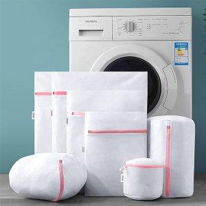 """$14.44(原价$16.99)HIKIMA 网状洗衣袋8件套 防缠绕变形 不怕烘干机""""吃""""袜子"""