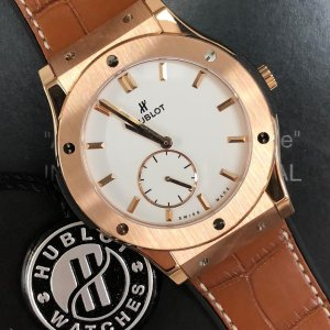 HublotClassic Fusion Classico Ultra Thin 18kt Rose Gold Black Dial Men's Watch 515.OX.1280.LR