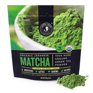 低至5折限今天:Jade Leaf 有机抹茶粉及茶艺工具套装促销