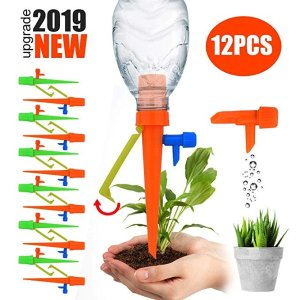 Green Earth Plant Self Watering Spikes System with Slow Release Control Valve Switch