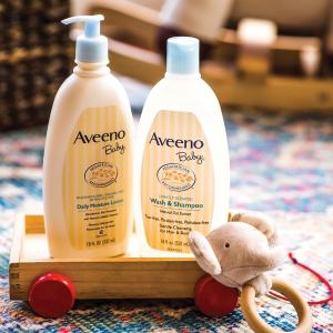 满减AU$5+限时包税免邮中国最后一天:Aveeno 洗护7.2折起热卖   收婴儿洗发沐浴水、润肤露
