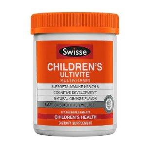 Swisse Children's Ultivite Multivitamin Natural Orange, 120 Chewables @ vitacost