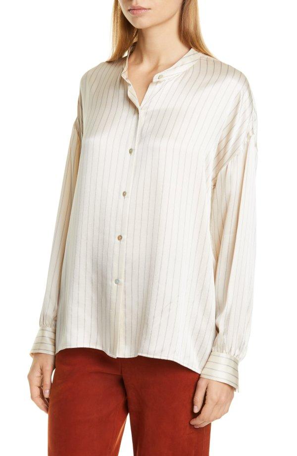 PJ Stripe 丝质衬衣