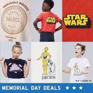 买2件 每件$7.9 性比价高又舒服Uniqlo 合作款T恤持续上新 有Hello Kitty、米奇、漫威系列