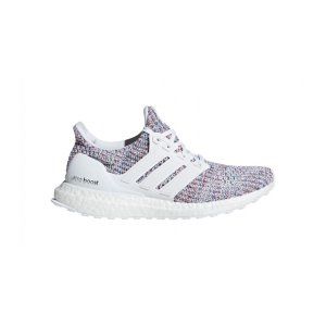AdidasWomen's Adidas UltraBOOST 4.0 Running Shoe - Color: Feather White/Active Red (Regular Width) - Size: 6.5